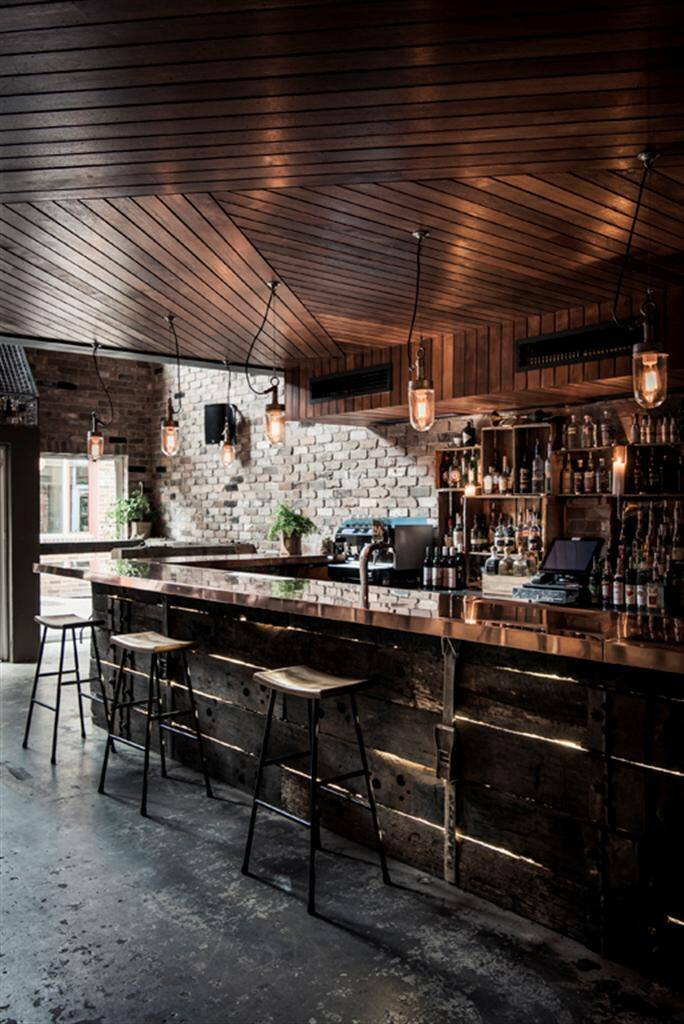 Donny S Bar Industrial Design With Rustic Accents By Luchetti Krelle