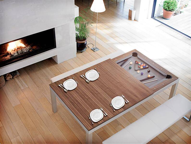 Fusion Table dining table and pool table - www.homeworlddesign.com