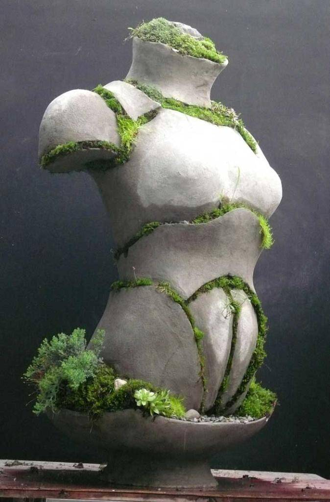 Female Armored Torso by Opiary - Extraordinary symbiosis between art and botany - www.homeworlddesign.com