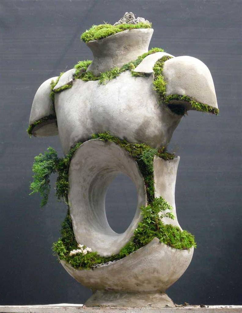Male Armored Torso by Opiary - Extraordinary symbiosis between art and botany - www.homeworlddesign.com