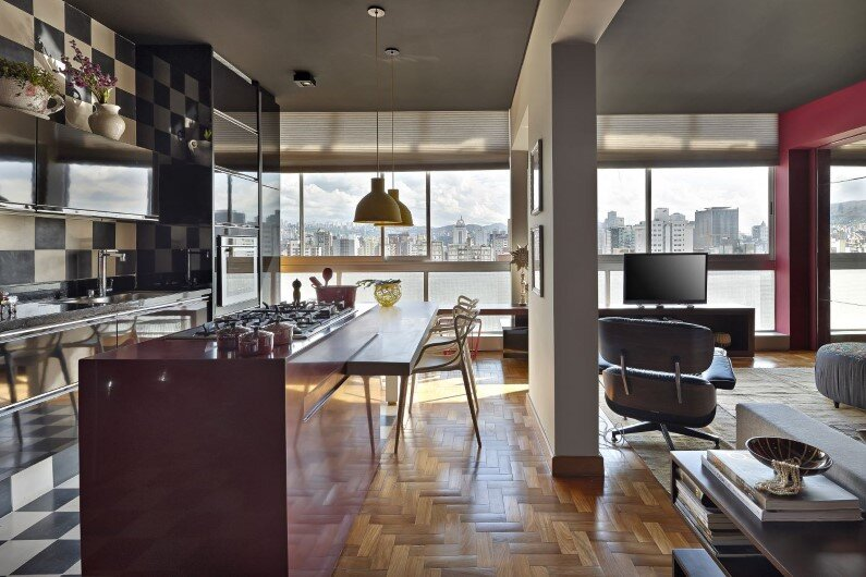 Retro style revived Santo Agostinho apartment renovated by architect Gislene Lopez - www.homeworlddesign.com   (1)
