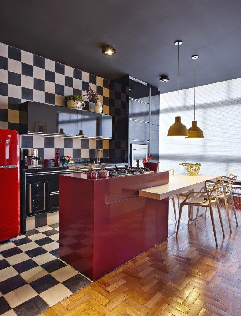 Retro Style Revived Santo Agostinho Apartment Renovated By Architect Gislene Lopez