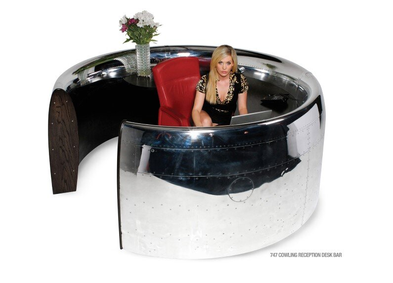 MotoArt Futuristic furniture from retired airplanes - www.homeworlddesign (2)