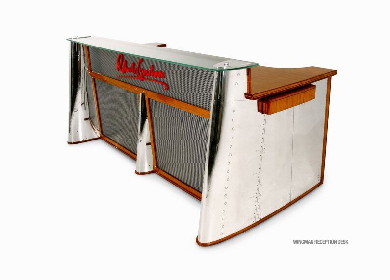 Wingman Desk  MotoArt Futuristic Furniture From Retired Airplanes    Www.homeworlddesign.com (