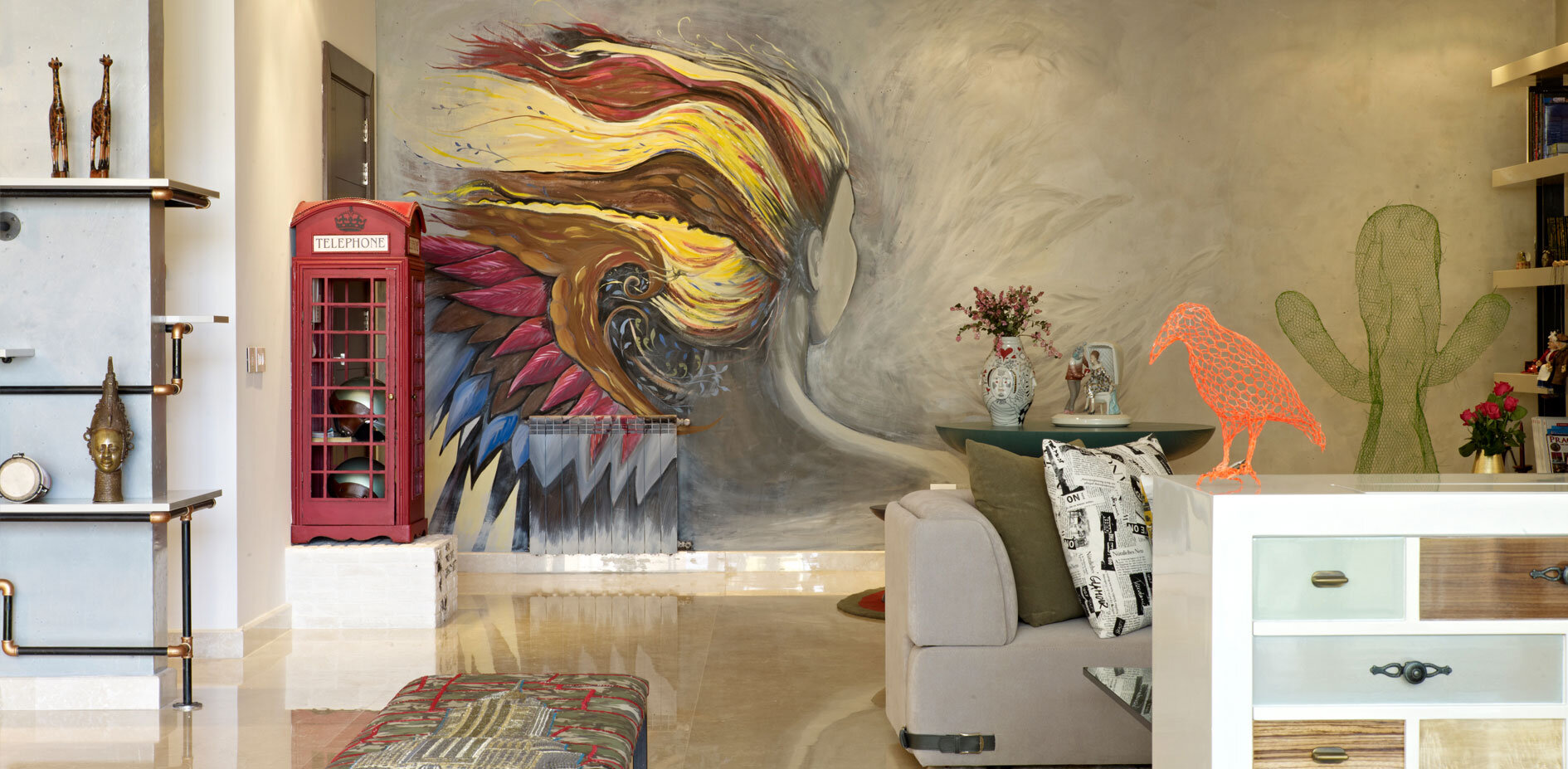 """apartment in beirutvick vanlian: eclectic interior with """"wow"""