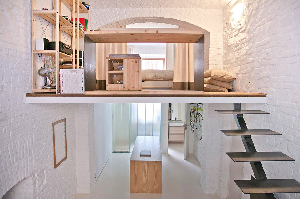 Genial Small Studio Apartment Design R3Architetti   Www.homeworlddesign. Com (1)