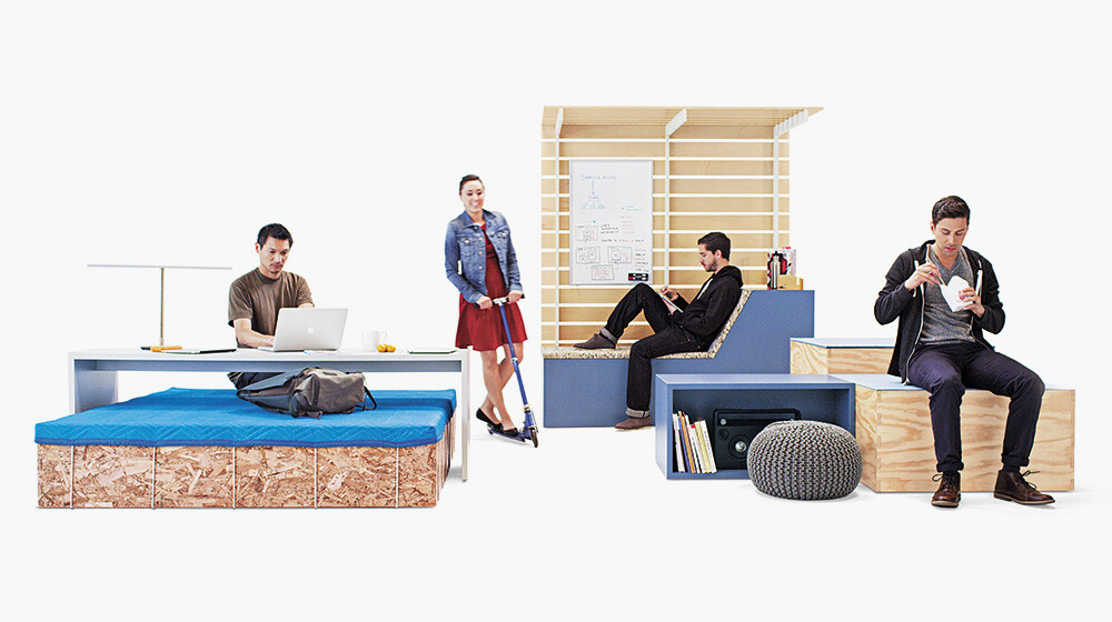 The Edge: modular furniture system for offices
