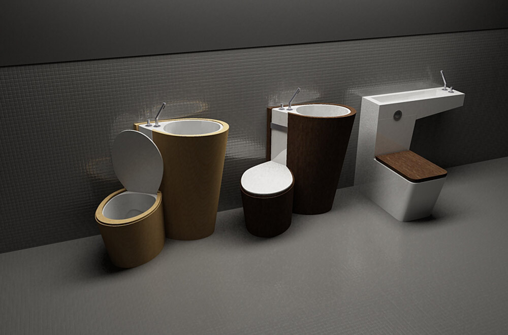 Za Bor Architects proposes an optimal combination of the toilet and sink