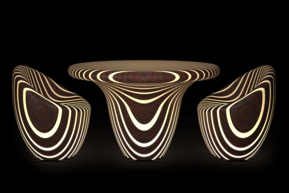 Bright Wood Collection fascinating collection of tables, seats and lamps by Giancarlo Zema - www.homeworlddesign. com (4)