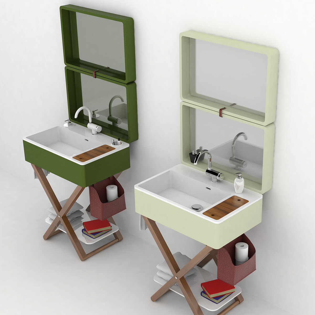 My bag portable bathroom by olympia ceramica - Meuble vasque retro ...