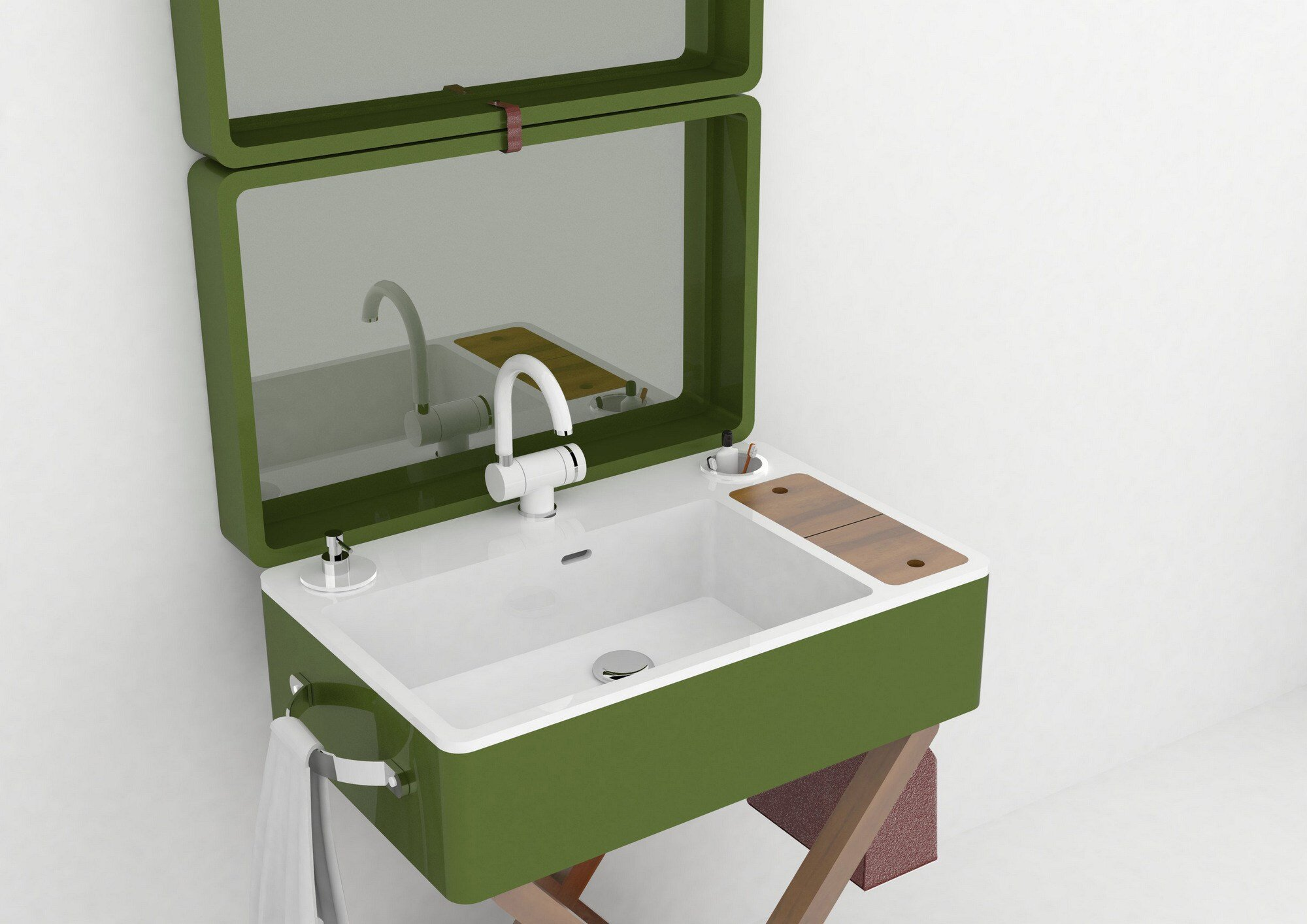 My bag portable bathroom by olympia ceramica for Architecture verte