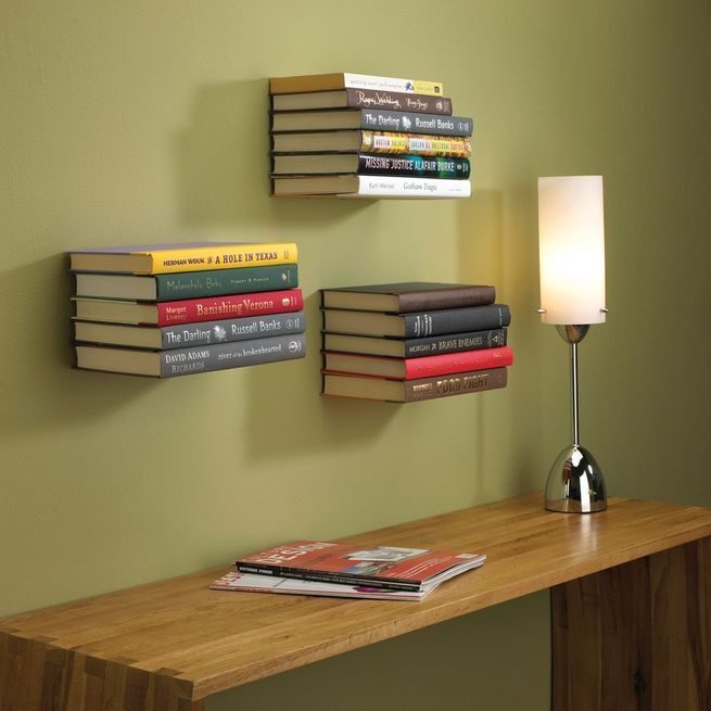 Bookshelves with minimalist design / Conceal book shelf