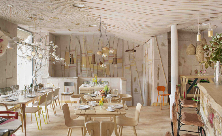 MamaCampo restaurant eclectic design with decors and pastel shades - www.homeworlddesign. com (6)