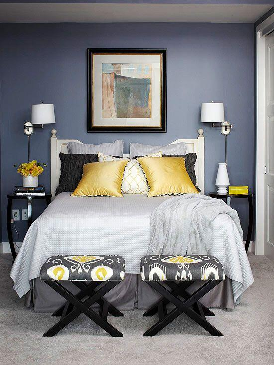 Painting Room With Hues Of Blue - www.homeworlddesign. com (1)