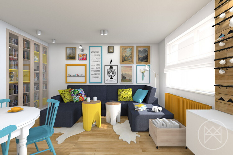 Pastel colours and freshness in this apartment in Jaworzno - www.homeworlddesign. com (2)
