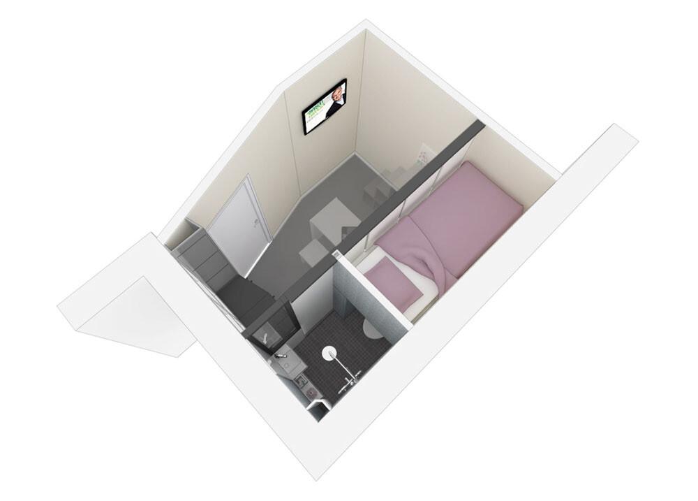 Small apartment in Paris KitoKo Studio transform 8 square meters - www. homeworlddesign. com (17)
