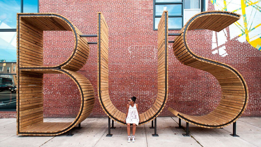 bus stop in baltimore three huge letters wwwhomeworlddesign com 7
