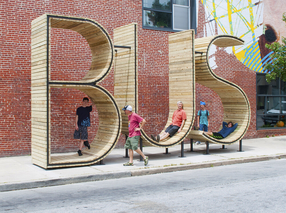 bus stop in baltimore three huge letters wwwhomeworlddesign com 8