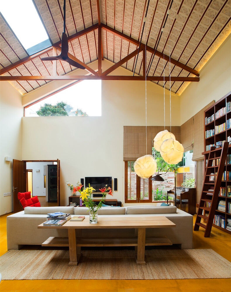 Library House contemporary architecture and nostalgic air - www.homeworlddesign. com (11)