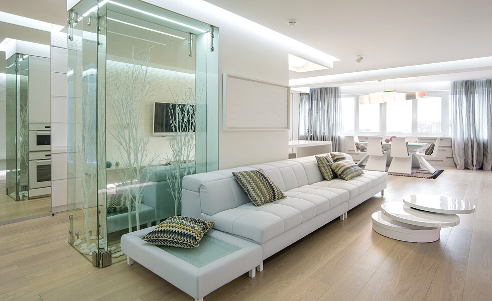White and mirrors can transform and expand space -  apartment in Rostov on Don - HomeWorldDesign (8)