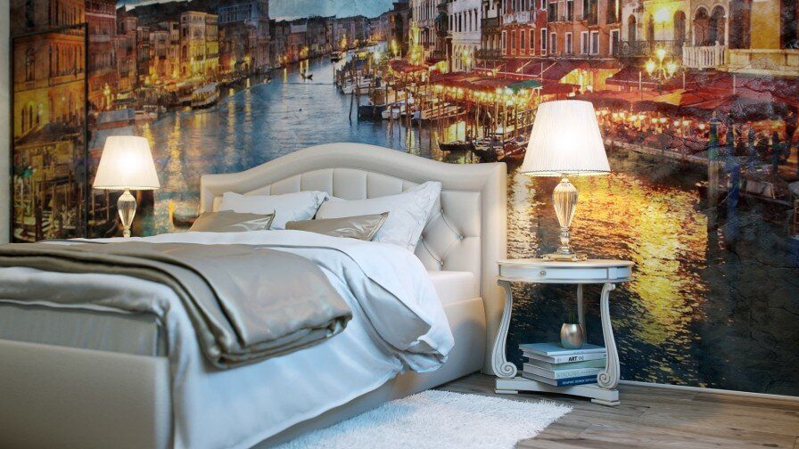 Would you like a painted wall in your bedroom - www.homeworlddesign. com (1)
