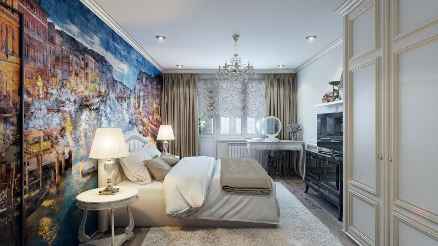 Would you like a painted wall in your bedroom - www.homeworlddesign. com (3)