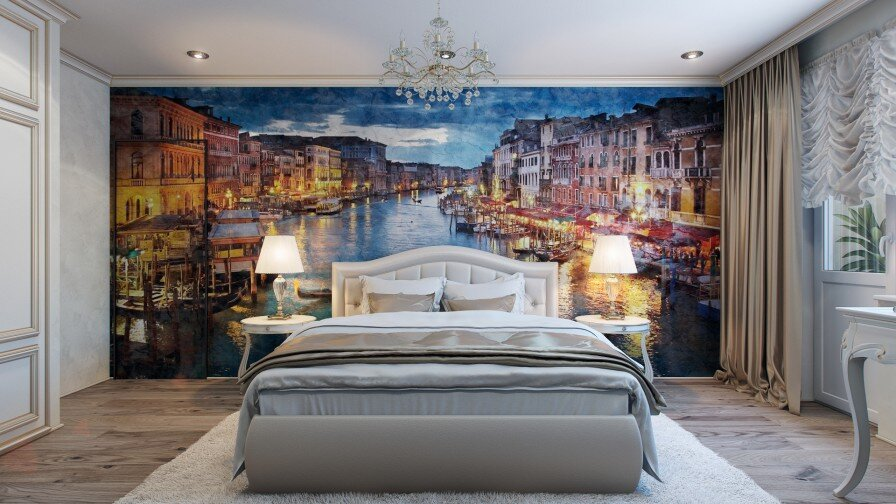 Would you like a painted wall in your bedroom?