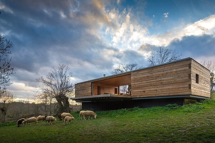 B House by ch+qs arquitectos inspired by the fields with yellow flowers - HomeWorldDesign (1)