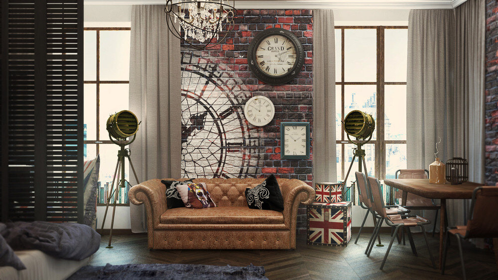 Beau London Sky Eclectic 32 Sqm Studio Apartment In London   HomeWorldDesign (2)