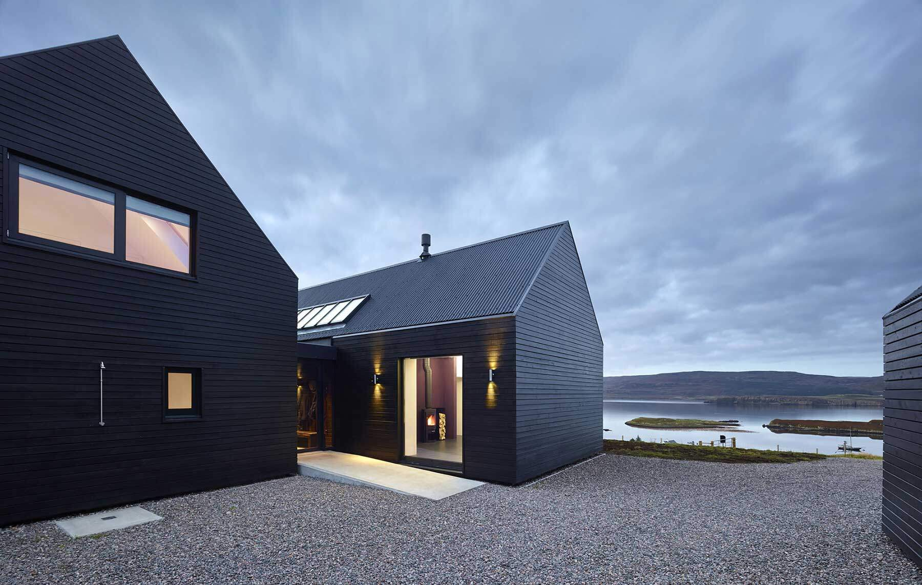 skye island house inspired  scottish farm barns