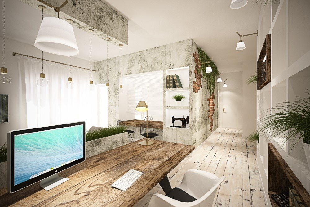 65 square meters vintage apartment by brain factory studio for Apartment design retro