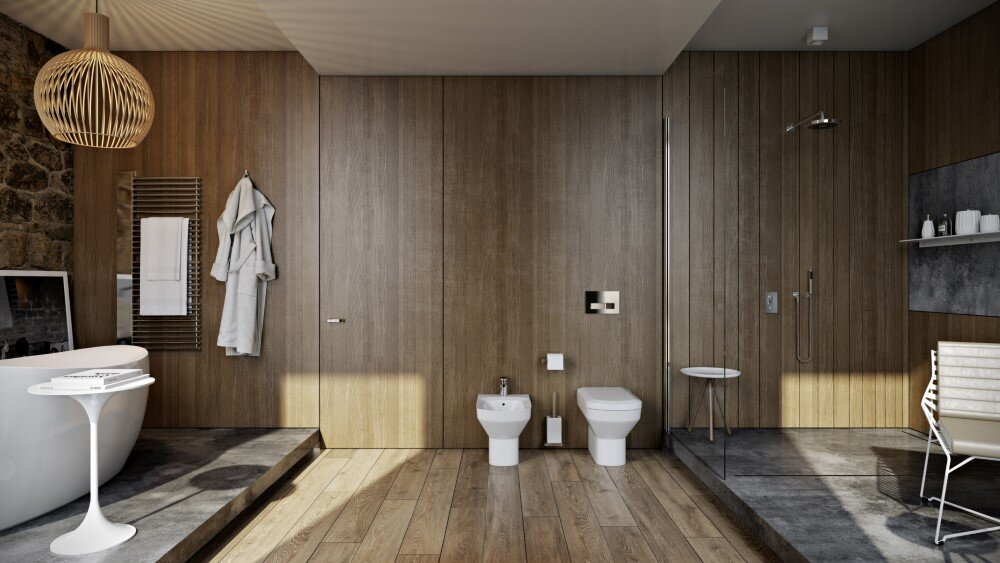 Bathroom by Paul Vetrov wood, stone and shadows - HomeWorldDesign (4)