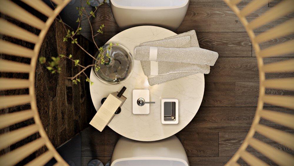 Bathroom by Paul Vetrov wood, stone and shadows - HomeWorldDesign (7)