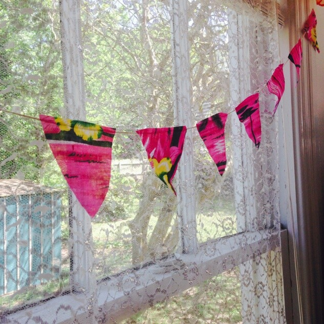 Fabric Pennant Banner - Home decor