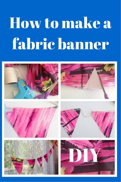 How to make a fabric banner- Home Decor