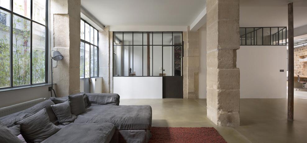 Loft in Paris ancient craft shop transformed by Maxime Jansens - HomeWorldDesign (1)