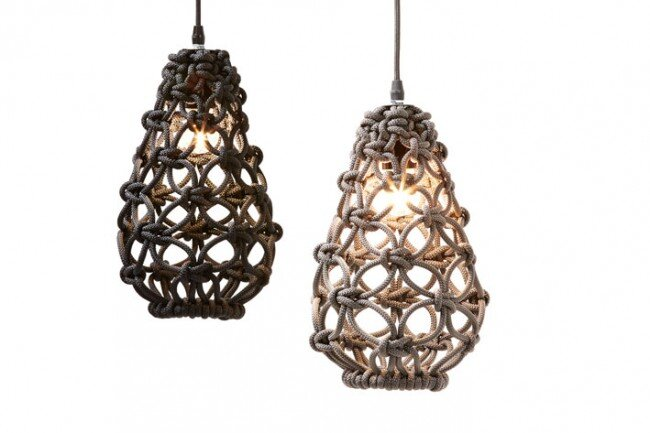 Macrame pendant lights - three collections by Sarah Parkes - HomeWorldDesign (4)