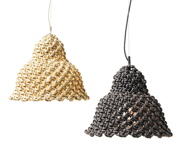 Macrame pendant light - three collections by Sarah Parkes - HomeWorldDesign (9)