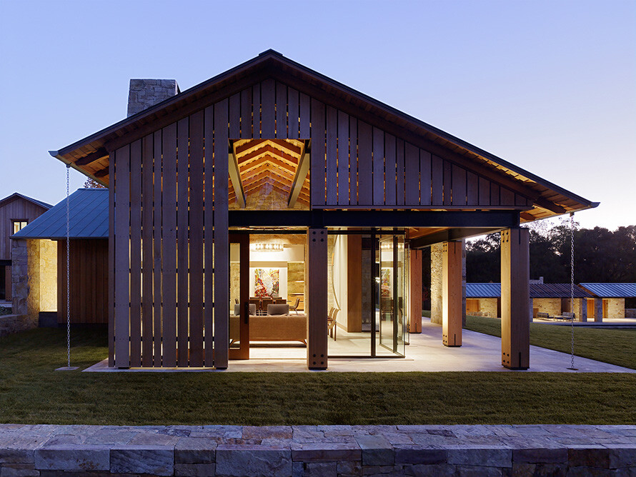 Mountain wood residence walker warner architects for Wood barn homes