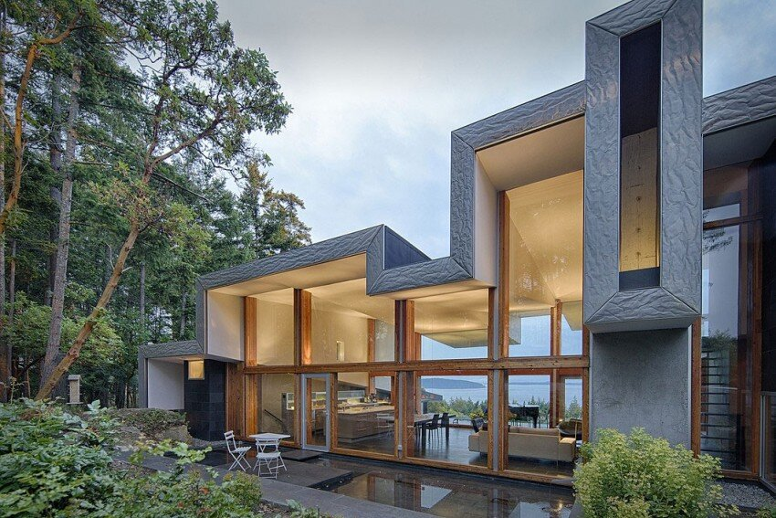 Ridge House retreat with large folding roof form - Simcic Uhrich Architects - HomeWorldDesign (3)