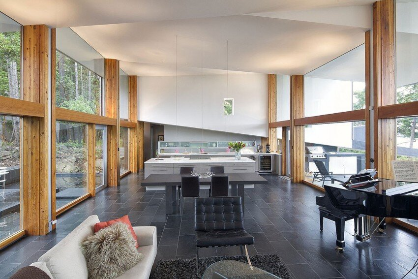 Ridge House retreat with large folding roof form - Simcic Uhrich Architects - HomeWorldDesign (7)