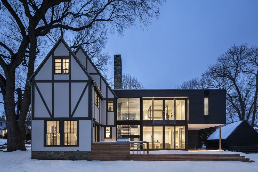 Tudor house: restoration and extension project developed by Joeb Moore & Partners