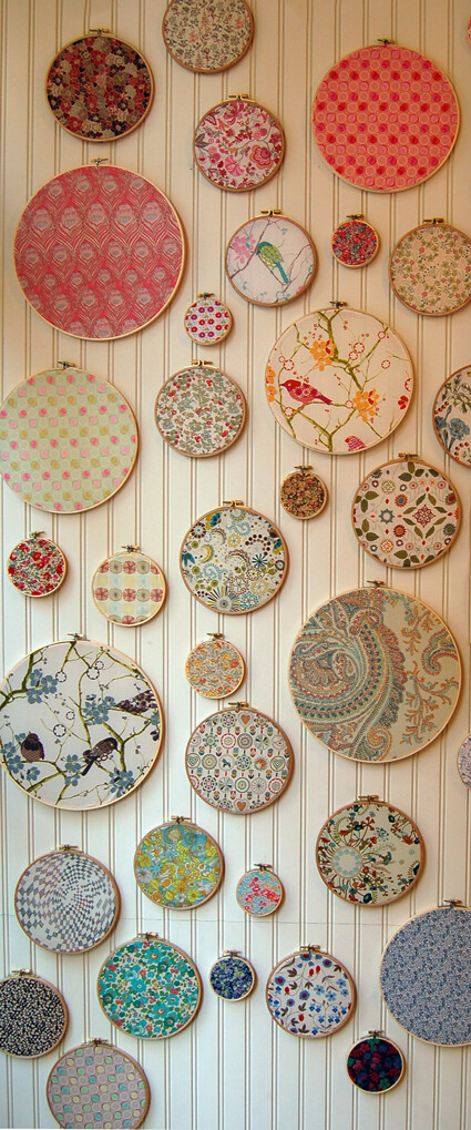 round frames - framed fabric