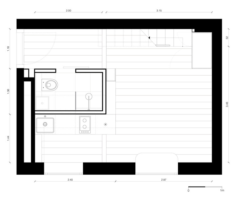 21 sqm studio project