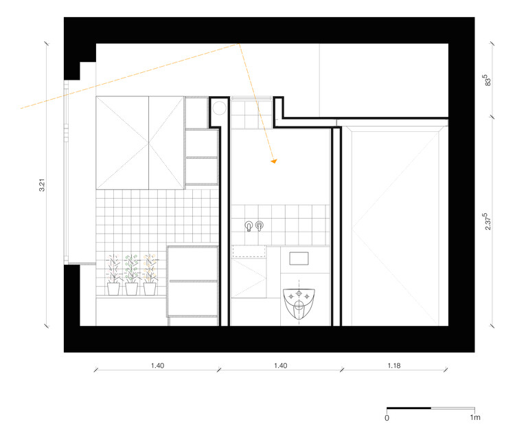 21 square-meters flat project