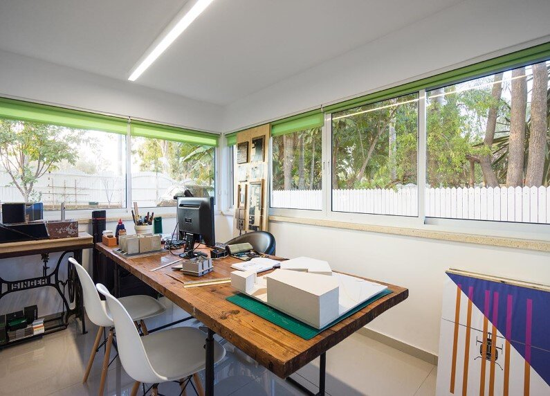 A House in a Moshav redesigned by Rotem Guy- workspace