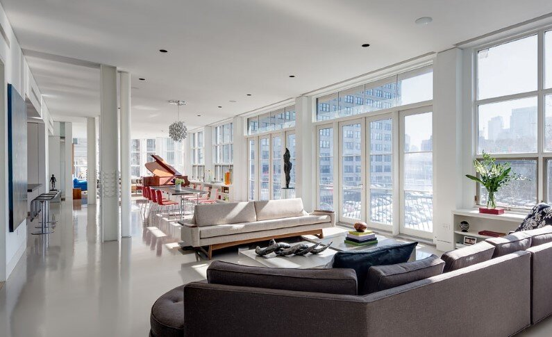 Architect Ed Kopel - Dumbo Residence - living room