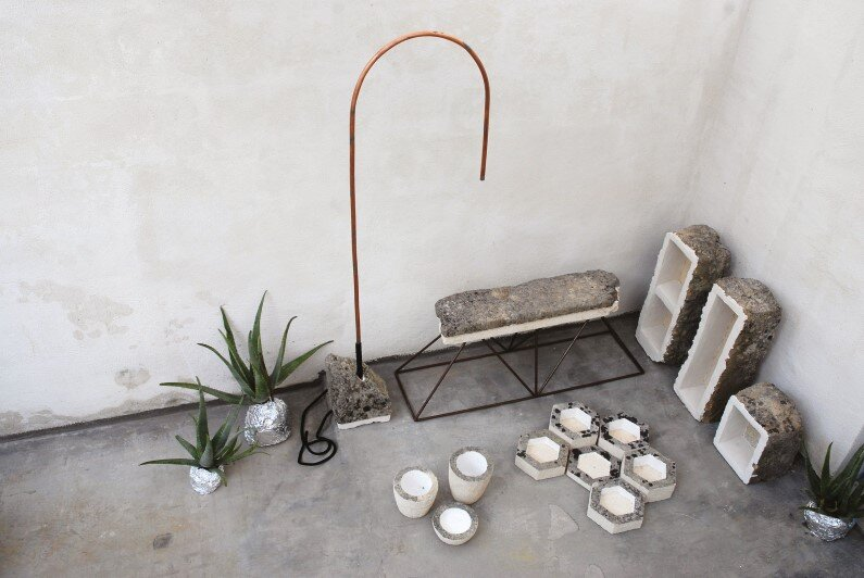 Calcarenite Series: pieces carved in limestone by Cosma Frascina