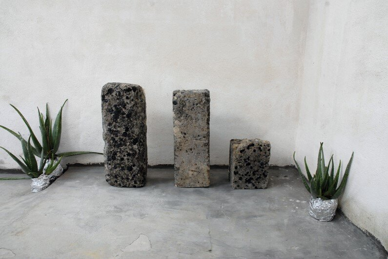 Calcarenite Series pieces carved