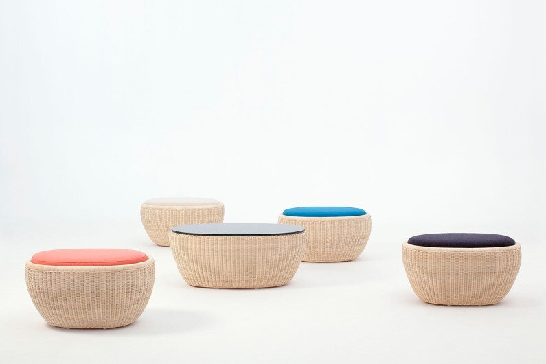 Ottomans by Japanese designer Hiroomi Tahara